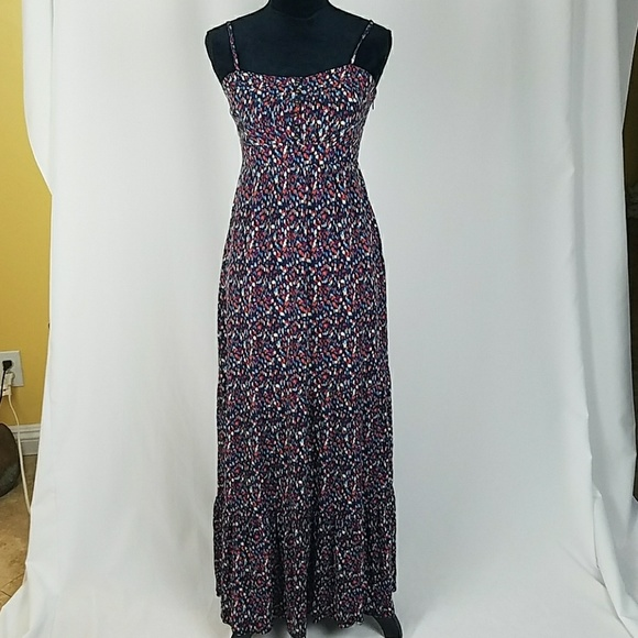 Fossil Dresses & Skirts - Fossil women XS fitted flare maxi dress spaghetti